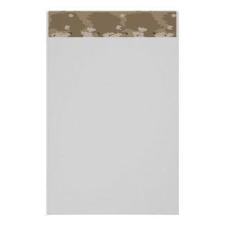 Desert Camouflage Stationary Stationery Design