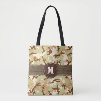 Desert camouflage tote bag