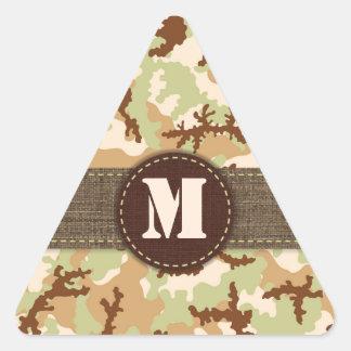 Desert camouflage triangle sticker