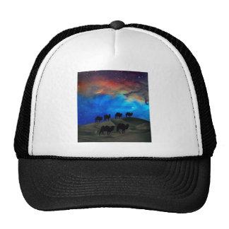 Desert caravan camels trucker hat