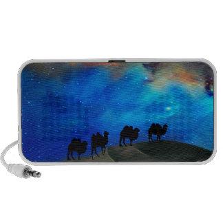 Desert caravan camels travelling speakers