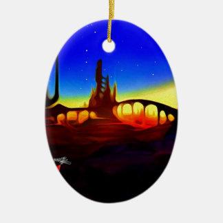 desert city ceramic ornament