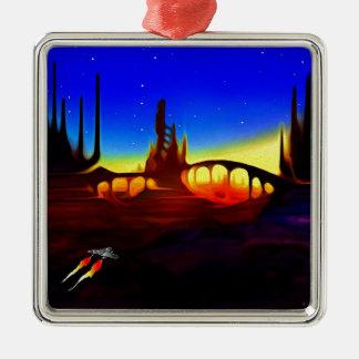 desert city metal ornament