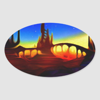 desert city oval sticker