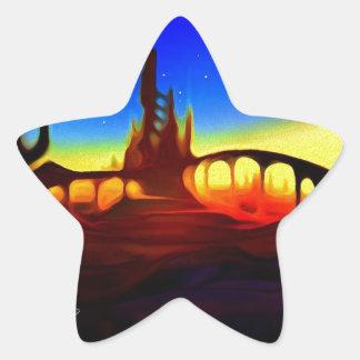 desert city star sticker