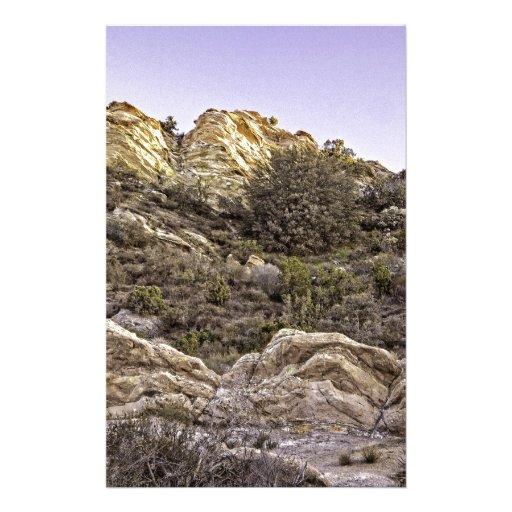Desert Cliffs View Stationery