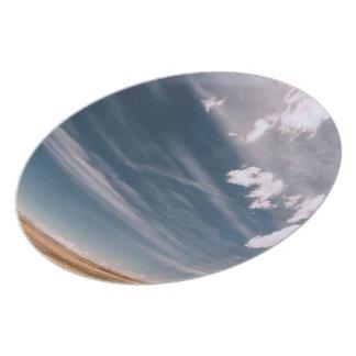 Desert clouds dinner plate