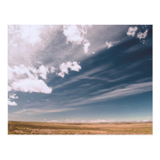 Desert clouds postcard