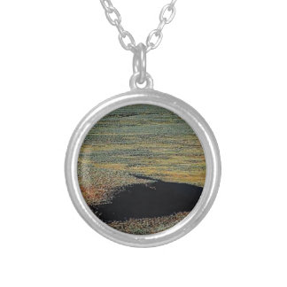 desert color blends silver plated necklace