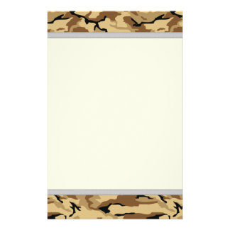 Desert Color Camo - Non ID Tags Customized Stationery