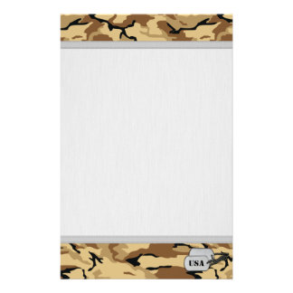Desert Color Camo w/ Grainy Background texture Stationery