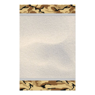Desert Color Camo w/ Sand Background - Non ID Tag Custom Stationery