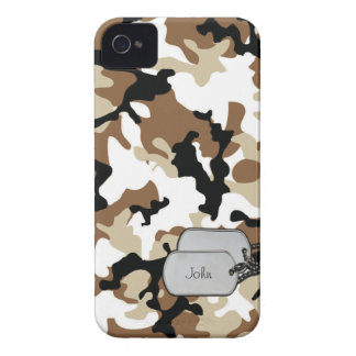 Desert Colored Military Camouflage iPhone 4 Case-Mate Case