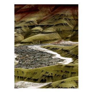 DESERT COLORFUL SAND DUNES DETAIL POSTCARD