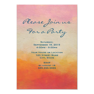 Desert Colors Abstract Landscape Generic Party Card
