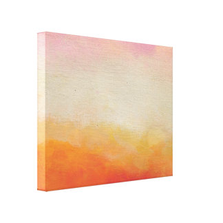 Desert Colors Abstract Landscape Painting Canvas Print