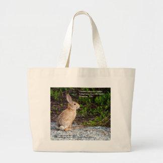 Desert Cottontail Rabbit Large Tote Bag