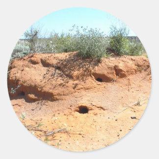 Desert Critter Dwellings in Red Sand Sticker