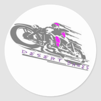 Desert Dames Classic Round Sticker