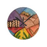 Desert Dance Round Clock