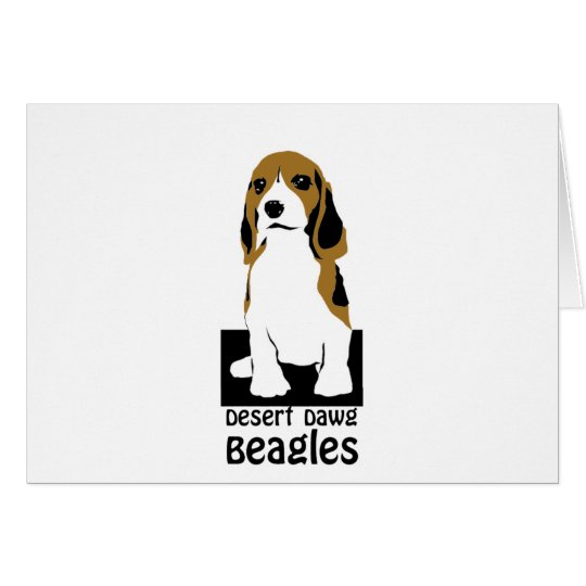 Desert Dawg Beagles Note Card