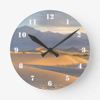 Desert Dawn Round Clock