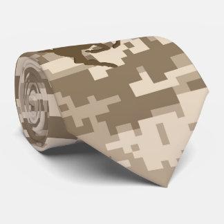 Desert Digital Camouflage Deer Camo Pattern Neck Tie