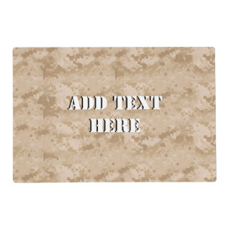 Desert Digital Military Background Placemat