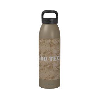 Desert Digital Military Background Drinking Bottles