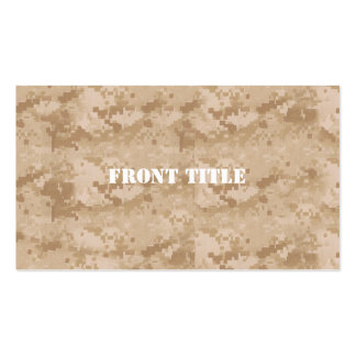 Desert Digital Military Pattern Double-Sided Standard Business Cards (Pack Of 100)