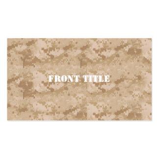 Desert Digital Military Pattern Business Card