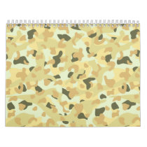 Desert disruptive camouflage calendar