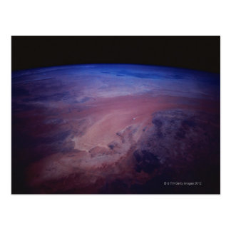 Desert Dust Storm from Space Postcard