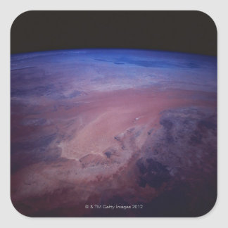 Desert Dust Storm from Space Square Sticker