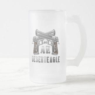 Desert Eagle .50 AE Frosted Glass Beer Mug