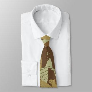 Desert eagle camouflage neck tie