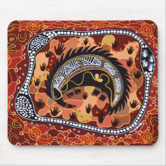 Desert Echidna Dreaming Mouse Pad