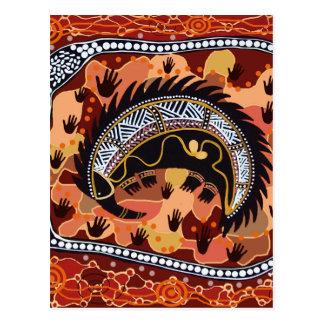 Desert Echidna Dreaming Postcard