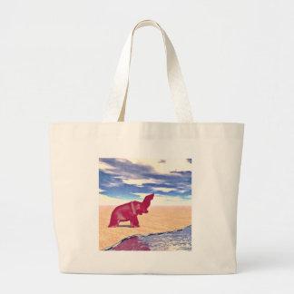 Desert Elephant Quest For Water Jumbo Tote Bag