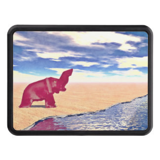 Desert Elephant Quest For Water Trailer Hitch Cover
