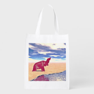 Desert Elephant Quest For Water Grocery Bag