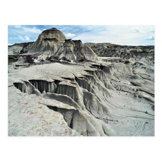 Desert erosion formation, Dinosaur Provincial Park Postcard
