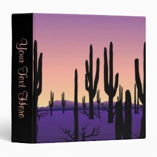 Desert Evening Personal Binder