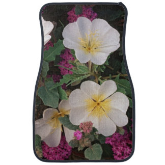 Desert Evening Primrose and Desert Sand Verbena, Car Floor Mat
