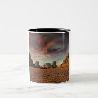 Desert Fires Two-Tone Coffee Mug