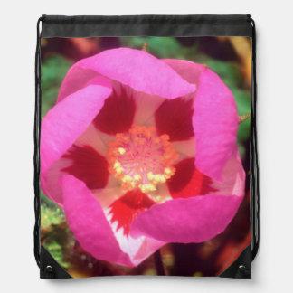 Desert Five Spot Wildflower Drawstring Bag