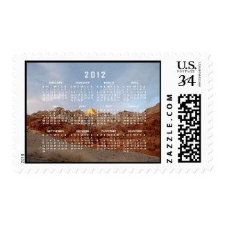 Desert Floor to Ceiling; 2012 Calendar Postage Stamp