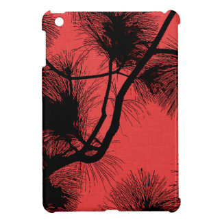 Desert flora stencil flowers at night pattern dark iPad mini covers