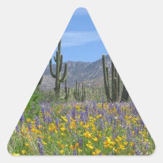 Desert Flowers Triangle Sticker