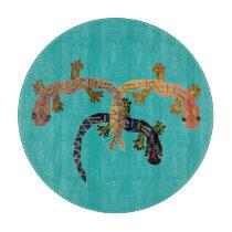 Desert Geckos Cutting Board